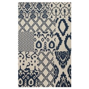 Bungalow Rose Hinton Indigo Patchwork Hand-Woven Blue Area Rug; 8' x 10'