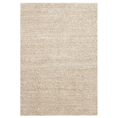 Williston Forge Darcie Hand-Woven Natural Area Rug; 4' x 6'