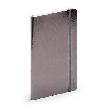Poppin, Medium, Soft Cover Notebooks, Gunmetal, 25/Pack (102297)