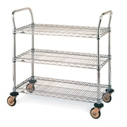 "Standard-Duty Utility Cart with Wire Shelves, 3-Shelves, 24"" x 24"" (MW701)"