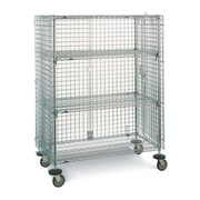 "Mobile Wire Shelf Cart, 2-Shelf, 21-1/2"" x 68-1/2"" (SEC33EC)"