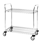 "Standard-Duty Utility Cart with Wire Shelves, 2-Shelves, 24"" x 24"" (MW601)"