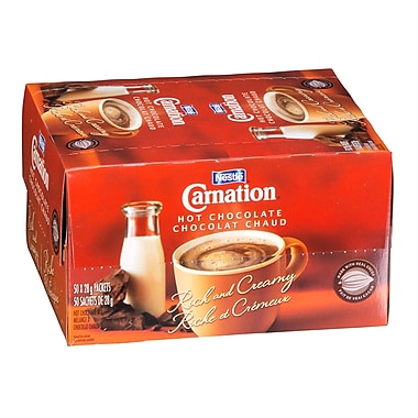 Nestle – Chocolat chaud Carnation, 28 g, bte/50