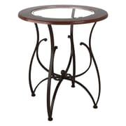 CorLiving – Table à manger hauteur bar Jericho en bois et en verre DJ-925-T, brun chaud