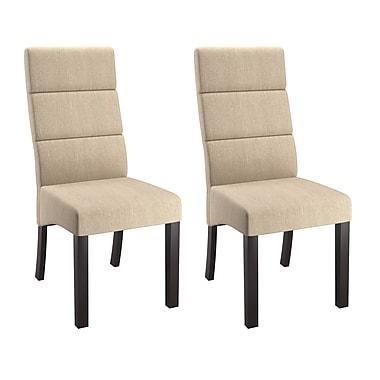 CorLiving – Chaises de salle à manger avec haut dossier rembourré