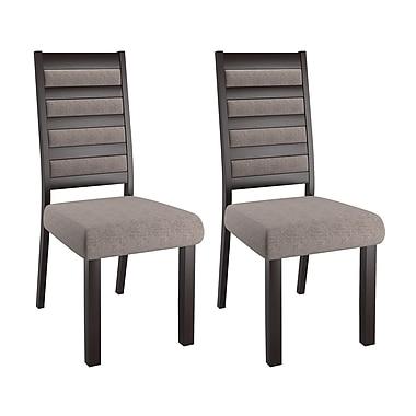 CorLiving – Chaises de salle à manger à dossier en échelle Bistro DWP-322-C, gris, 2 pièces