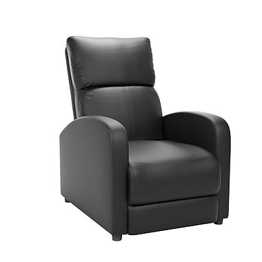 CorLiving – Fauteuil inclinable en cuir contrecollé Moor LZY-509-R, noir