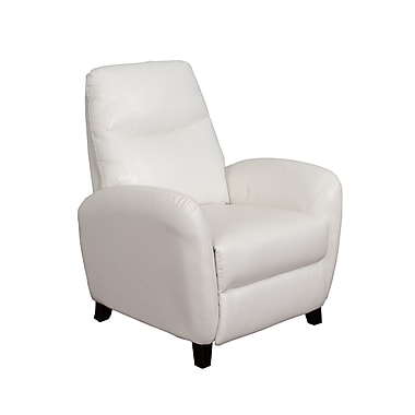 CorLiving – Fauteuil inclinable en cuir contrecollé Ava LZY-511-R, blanc