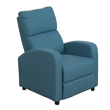 CorLiving – Fauteuil inclinable Moor LZY-528-R, lin bleu