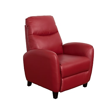 CorLiving – Fauteuil inclinable en cuir contrecollé Ava LZY-551-R, rouge