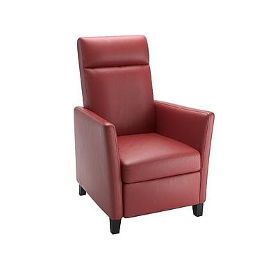 CorLiving – Fauteuil inclinable en cuir contrecollé Elise LZY-555-R, rouge