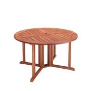 CorLiving – Table de salle à manger d'extérieur en bois massif à abattant Miramar PEX-369-T, brun cannelle