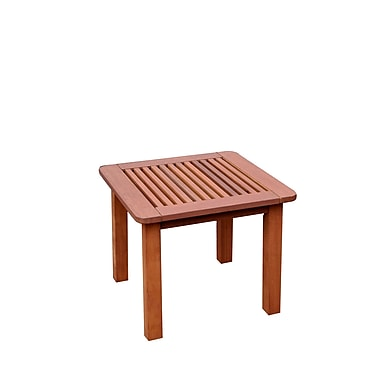 CorLiving PEX-864-T Miramar Hardwood Outdoor Side Table, Cinnamon Brown