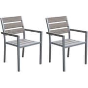 CorLiving – Chaises de salle à manger d'extérieur Gallant PJR-571-C, gris décoloré, 2/paquet