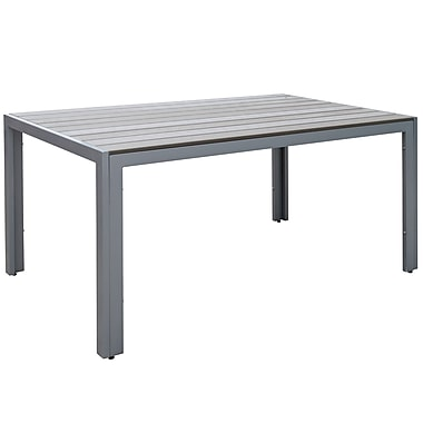 CorLiving PJR-572-T Gallant Outdoor Dining Table, Sun Bleached Grey