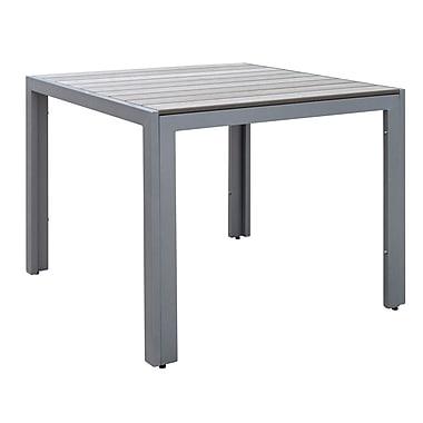 CorLiving – Table de salle à manger carrée d'extérieur Gallant PJR-573-T, gris décoloré