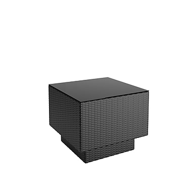 CorLiving PPT-301-T Park Terrace Patio Side Table, Textured Black Weave