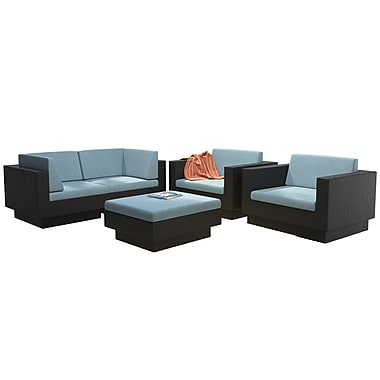 CorLiving PPT-342-Z Park Terrace Sofa Patio Set, Teal and Black, 5-Piece