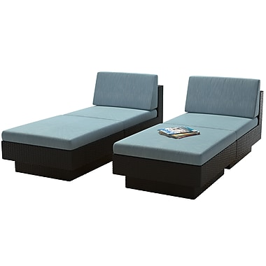 CorLiving PPT-346-Z Park Terrace Lounger Patio Set, Teal and Black, 4-Piece