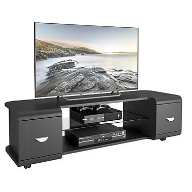 CorLiving – Meuble pour téléviseur jusqu'à 65 po avec roulettes TMM-103-B, noir