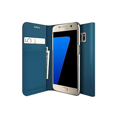 Araree – Étui format journal mince pour Galaxy S6 Edge, bleu