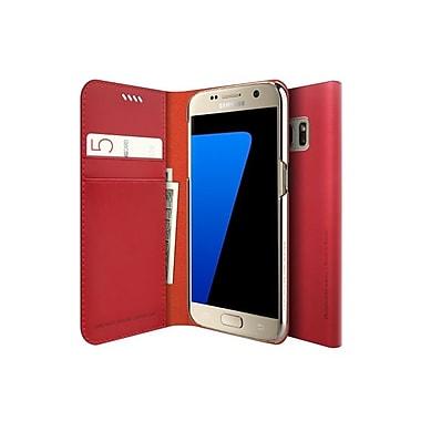 Araree – Étui format journal mince pour Galaxy S7, rouge