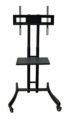 Rocelco TV/AV Cart, Steel Black (R BSTC)