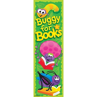 Trend® Bookmarks, Buggy for Books