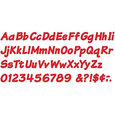 Trend Enterprises – Lettres réutilisables majuscules/minuscules italiques, 4 po, rouge (T-2700)