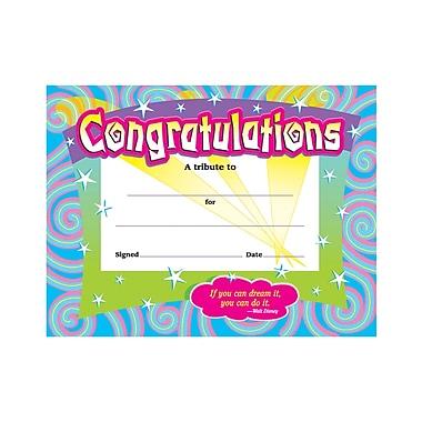 "Trend Enterprises® Spirals Congratulations Certificate,8 1/2""(L) X"