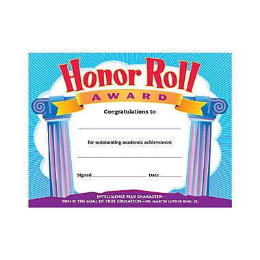 Certificates & Awards, Trend® Honor Roll Award Certificates