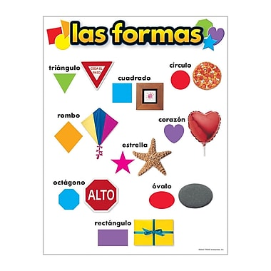 Trend Enterprises® Las Formas (Shapes) Spanish Learning Chart