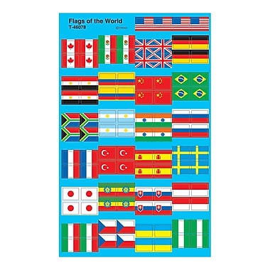 Trend Enterprises® SuperShapes Stickers, Flags of The World