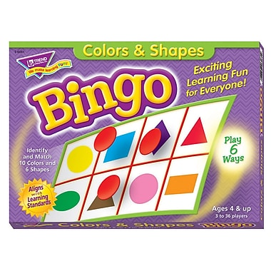 Trend Enterprises Colours And Shapes Bingo Game (T-6061)