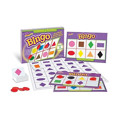 Trend Enterprises® Bingo Game, Colors and Shapes