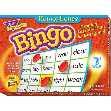 Trend Enterprises® Homophones Bingo Game, Grades 3rd - 8th
