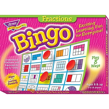 Trend Enterprises® Bingo Game, Fractions (T-6136)