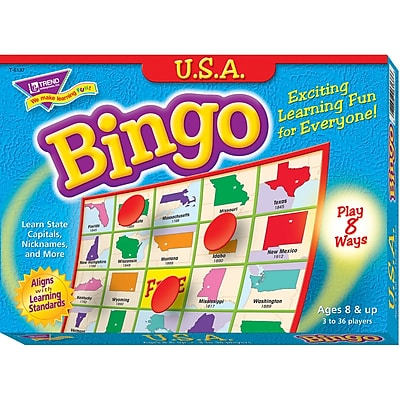 Trend® Games & Activities, U.S.A. Bingo Game