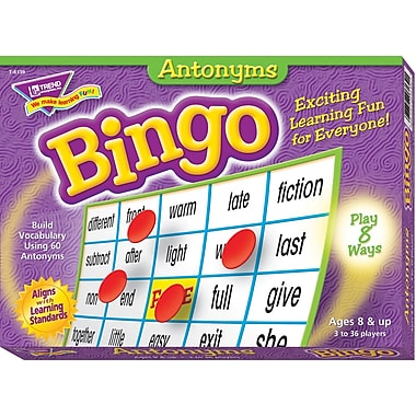 Trend Enterprises® Antonyms Bingo Game, Grades 3rd - 9th