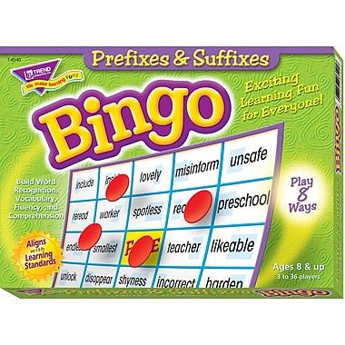 Trend Enterprises® Prefixes & Suffixes Bingo Game, Grades 3rd - 9th