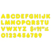 "Trend Enterprises® Casual Ready Letter, 3"", Yellow"