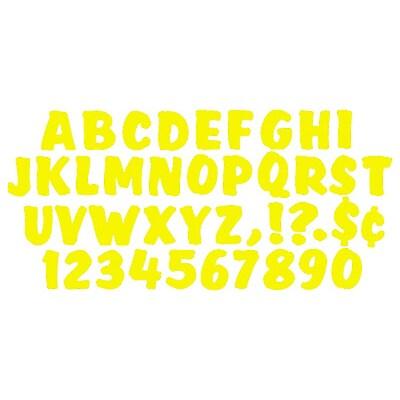 Splash Uppercase Ready Letters, Yellow, 4