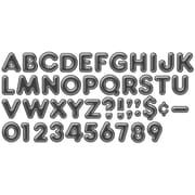 """Trend® 4"""" Ready Letters®, 3D Casual, Black"""