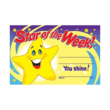 Trend Enterprises Star Of The Week! Recognition Award, 240/Pack (T-8107)
