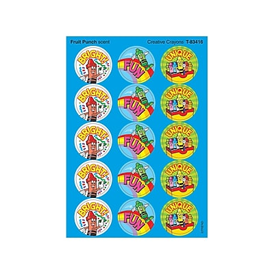 Trend® Stinky Stickers®, Large Round, Creative Crayons Scented