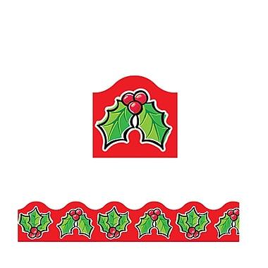 Trend Enterprises® Pre-Kindergarten - 9th Grades Scalloped Terrific Trimmer, Christmas Holly