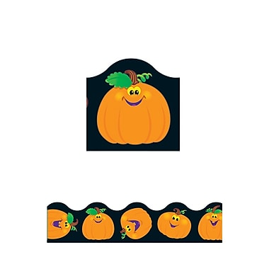 Trend Enterprises® Pre-Kindergarten - 5th Grades Scalloped Terrific Trimmer, Pumpkin Pals