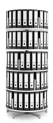 Moll® Deluxe Binder & File Carousel Shelving, Five Tier (CL5-80)