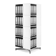 Moll® Cube Binder & File Carousel Shelving, Four Tier (CUBE4)