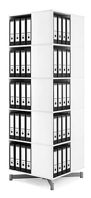Moll® Cube Binder & File Carousel Shelving, Five Tier (CUBE5)
